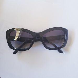 PRADA Black/Violet Cat Eye SPR 19M Sunglasses